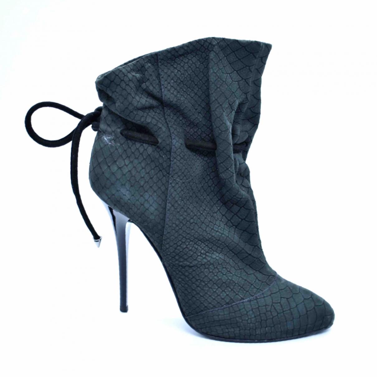 Giuseppe Zanotti - Boots   pour femme en cuir - anthracite