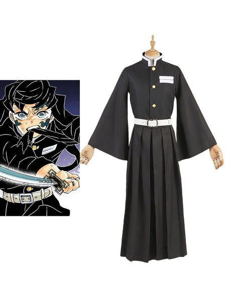Milanoo Tokitou Muichirou Cosplay Costume Demon Slayer: Kimetsu No Yaiba Cosplay Set
