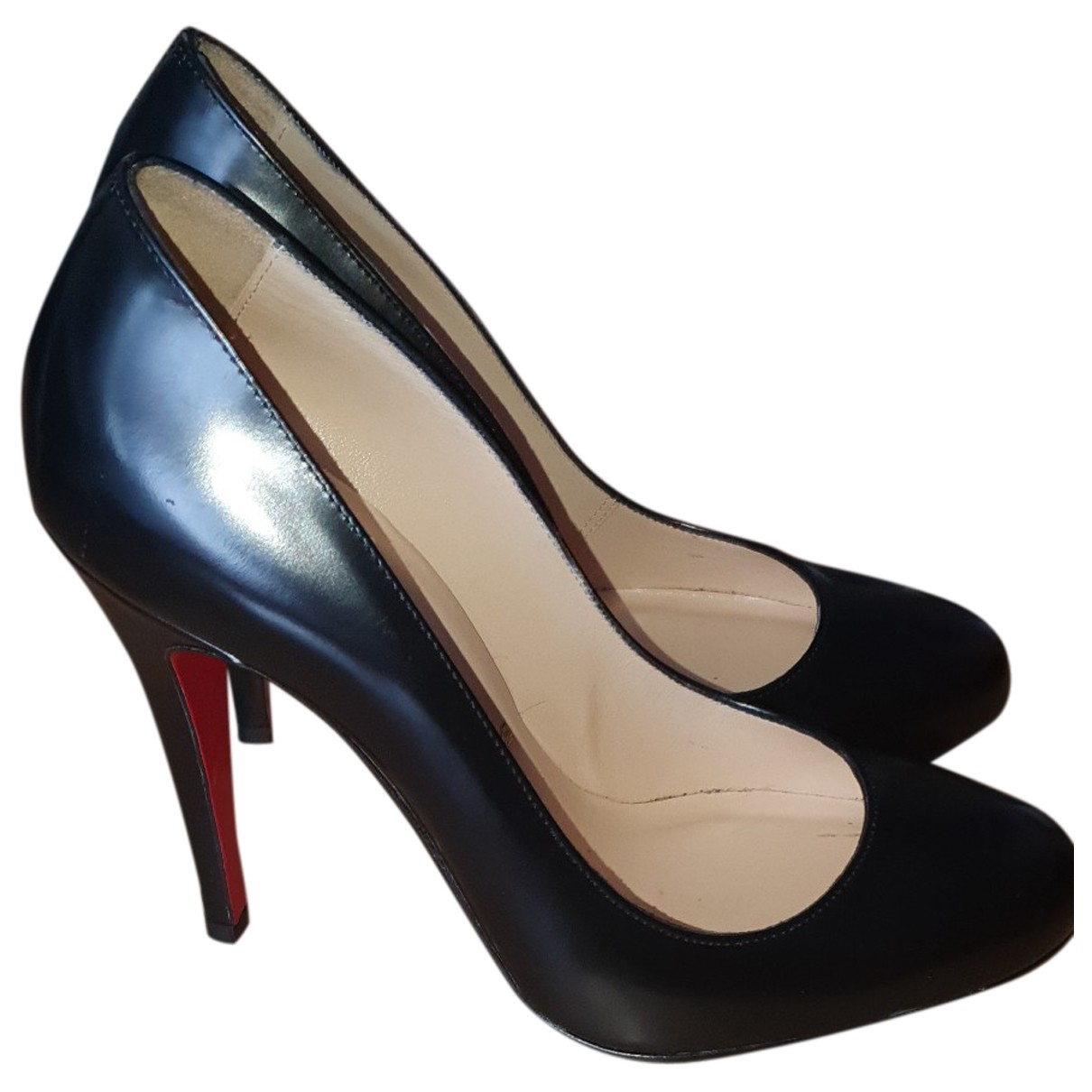 Christian Louboutin Simple pump Black Leather Heels for Women 3 UK