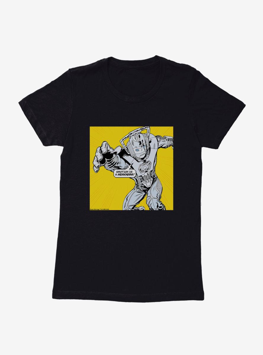 Doctor Who Cybermen Emotion Is A Weakness Womens T-Shirt
