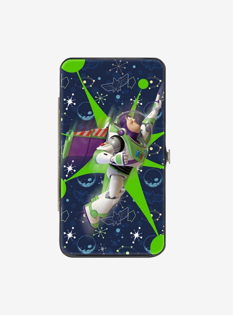 Disney Pixar Toy Story Buzz Lightyear Flight Space Ranger Logo Hinged Wallet