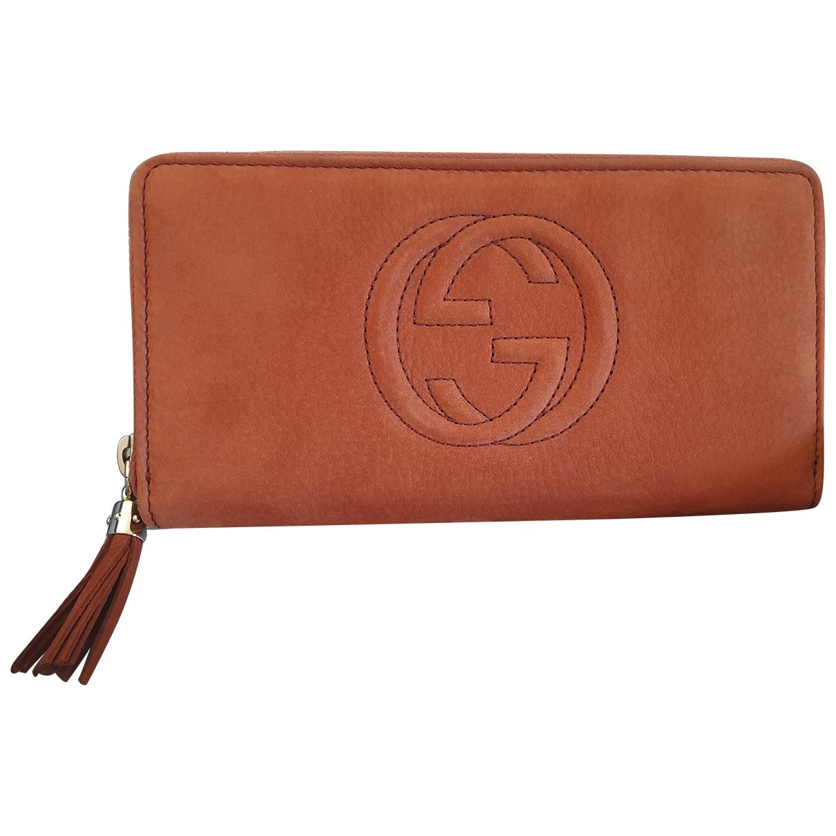 Gucci Soho Orange Suede wallet for Women \N