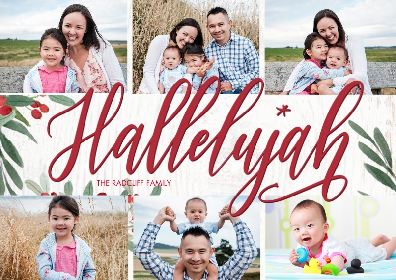 Christmas Photo Cards 5x7 Cards, Premium Cardstock 120lb with Rounded Corners, Card & Stationery -Christmas Hallelujah by Tumbalina