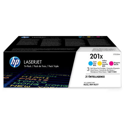 HP 201X CF253XM Original Cyan Mgenta Yellow Toner Cartridge High Yield