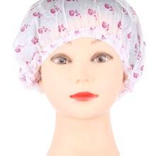 10 pieces Floral Pattern Disposable Hair Shower Cap