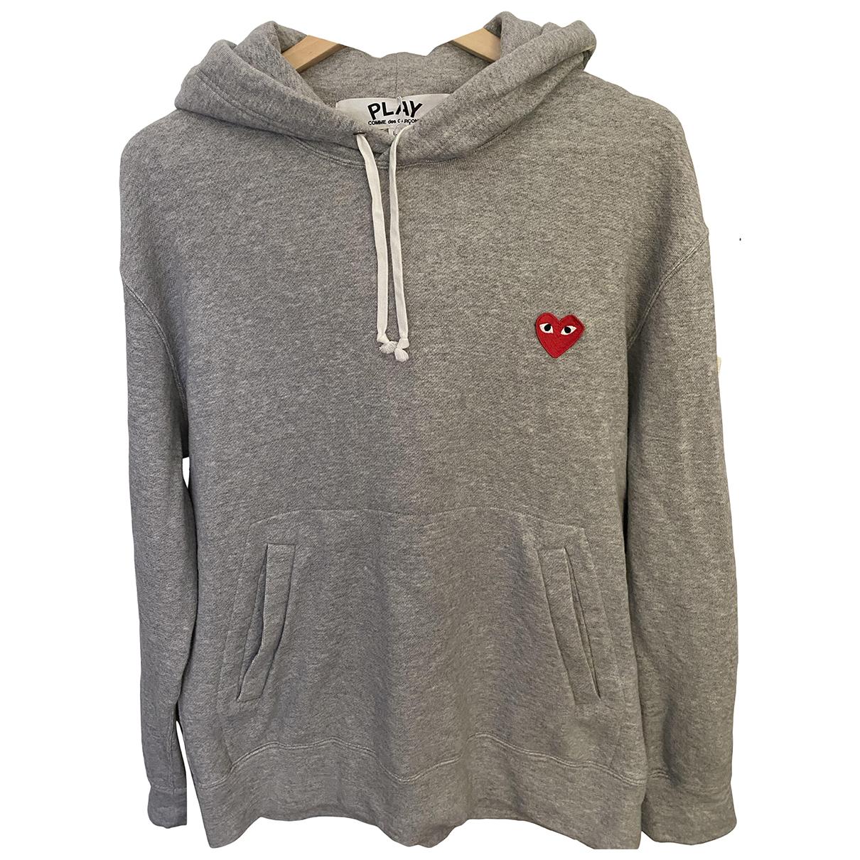 Play Comme Des Garcons \N Pullover.Westen.Sweatshirts  in  Grau Baumwolle