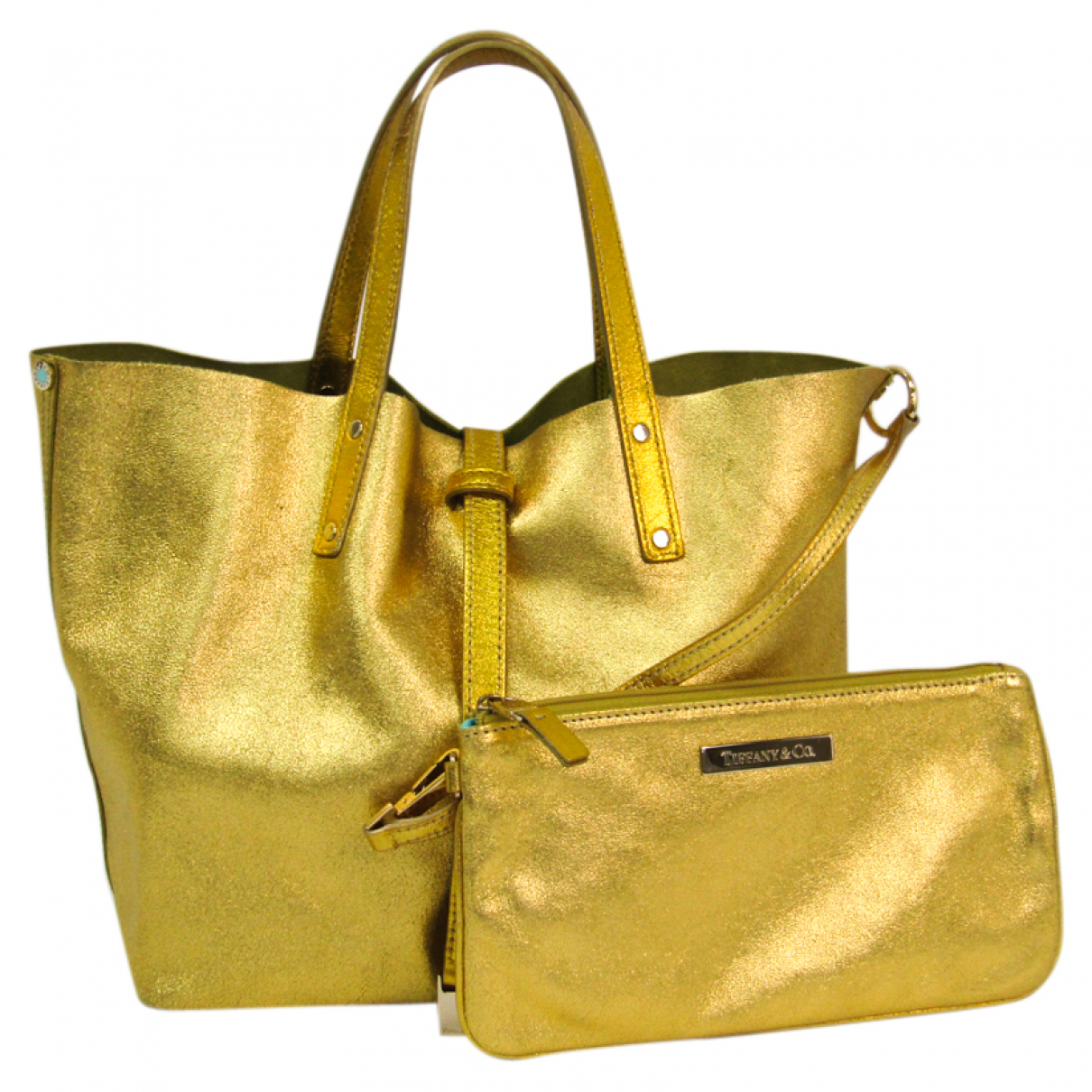Tiffany & Co \N Handtasche in  Gelb Leder
