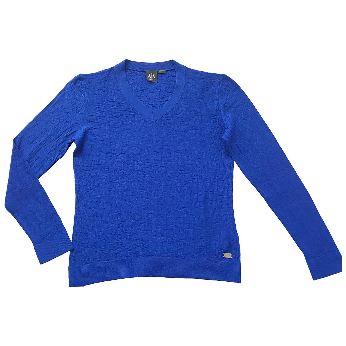 Armani Exchange - Pulls.Gilets.Sweats   pour homme en laine - bleu