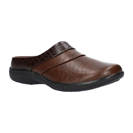 Easy Street Womens Swing Mules, 11 Medium, Brown