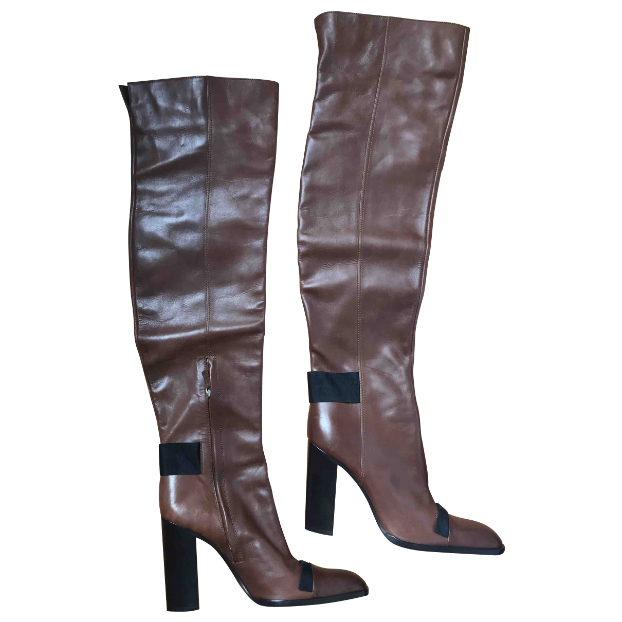 Yves Saint Laurent \N Brown Leather Boots for Women 39 EU
