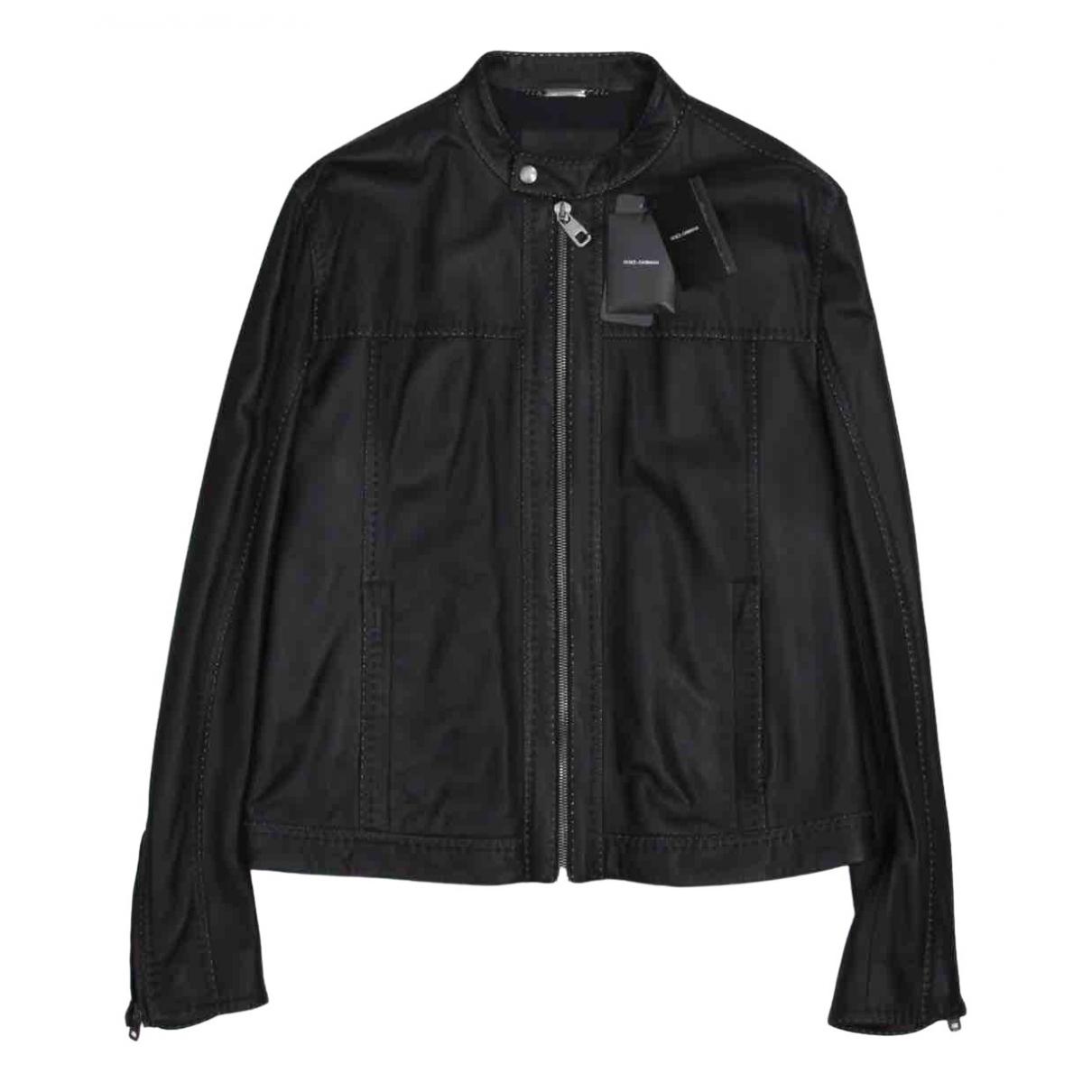 Dolce & Gabbana \N Black Leather jacket  for Men 54 IT