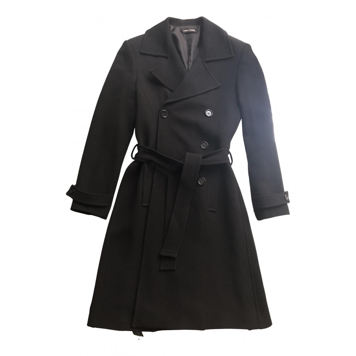 - Manteau   pour femme en laine - noir
