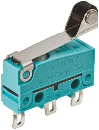 Panasonic SPDT Roller Lever Microswitch, 100 mA @ 30 V dc