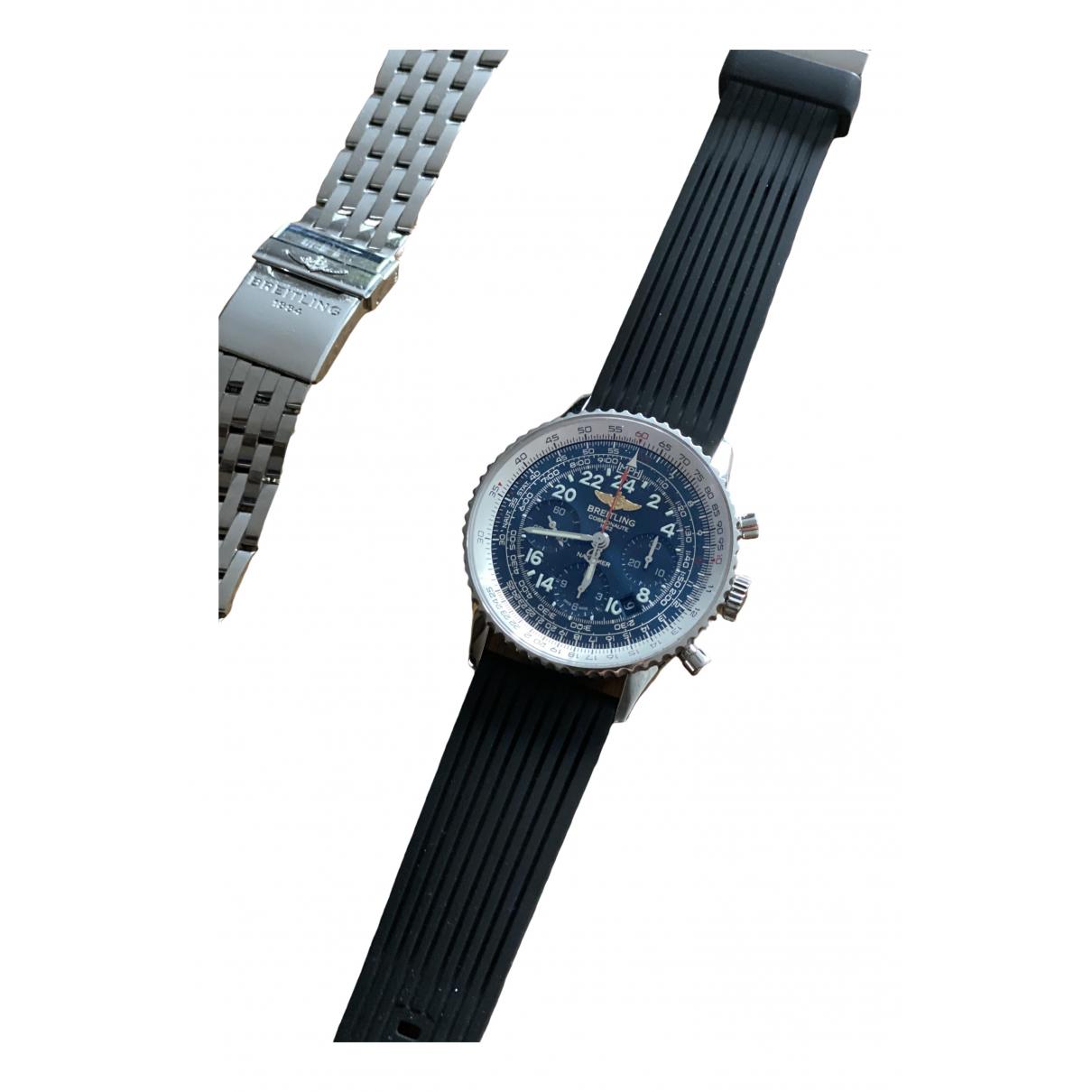 Breitling Navitimer Uhr in  Silber Stahl