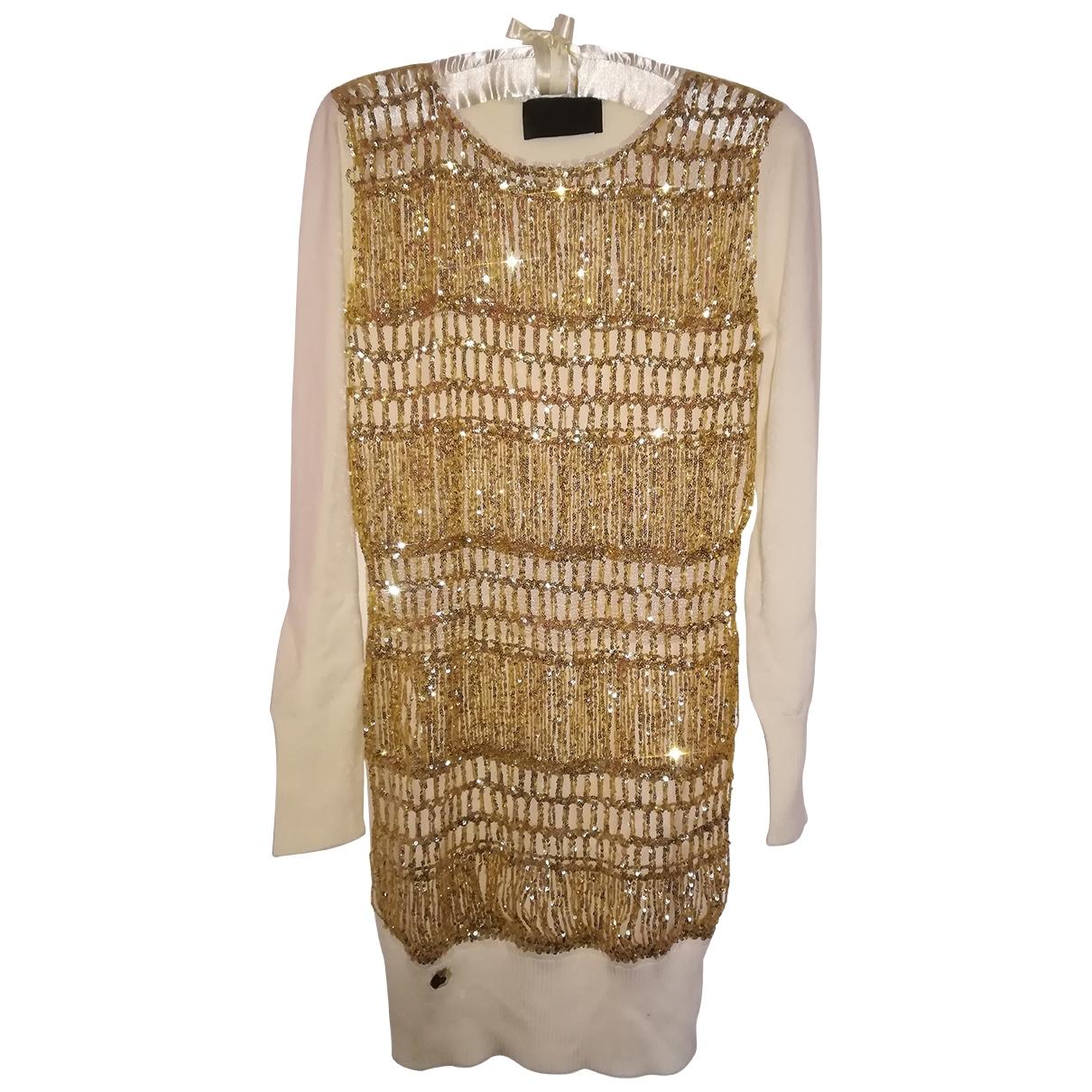 Philipp Plein - Robe   pour femme en cachemire - beige