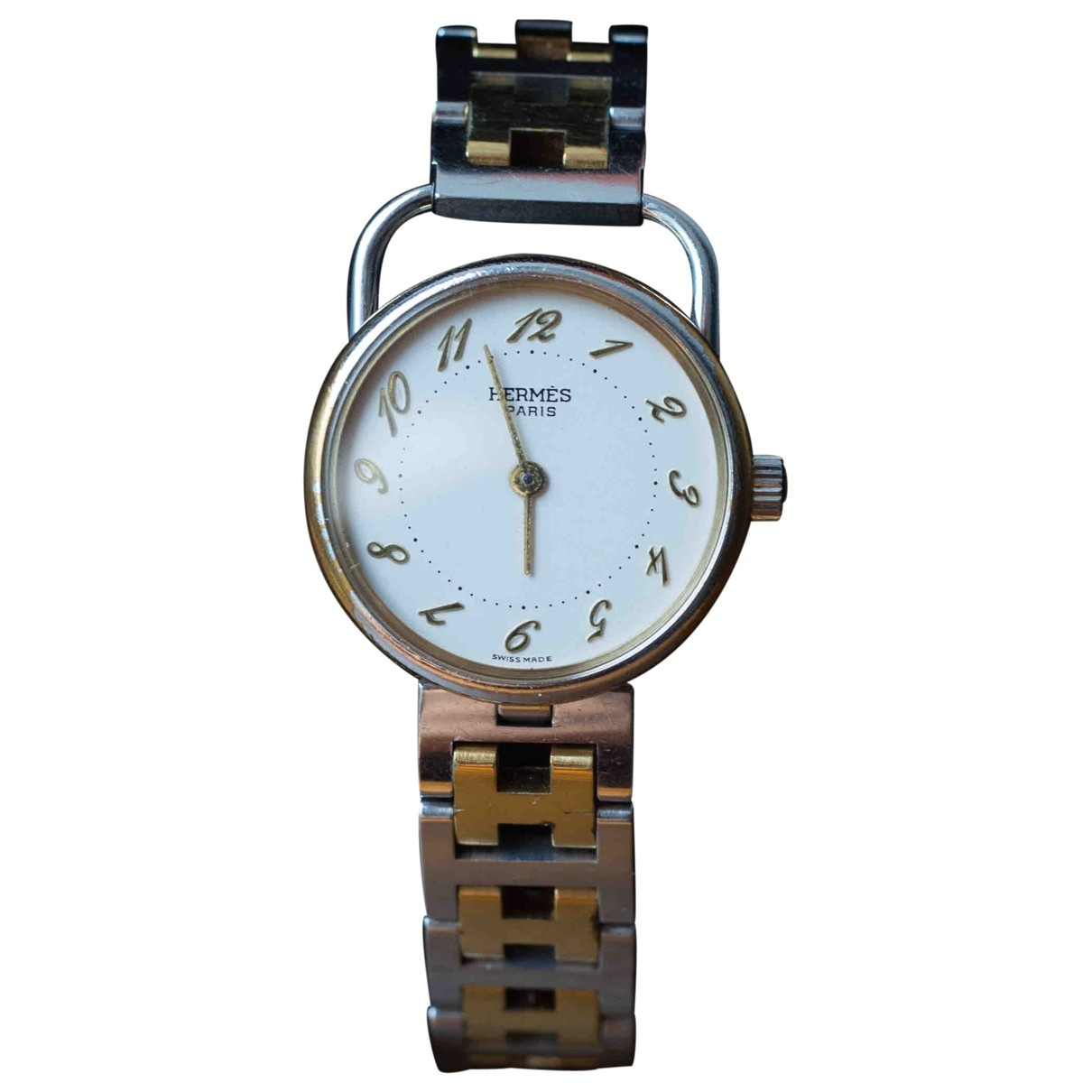 Hermès Arceau Yellow gold and steel watch for Women \N