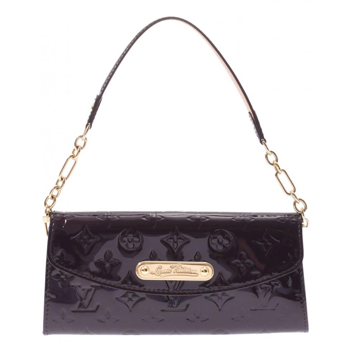 Louis Vuitton - Pochette Sunset Boulevard pour femme en cuir verni - noir