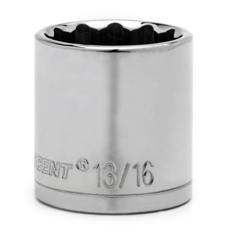 Crescent Socket, 1/2 In. Drive 12 Point, 7/16 In.