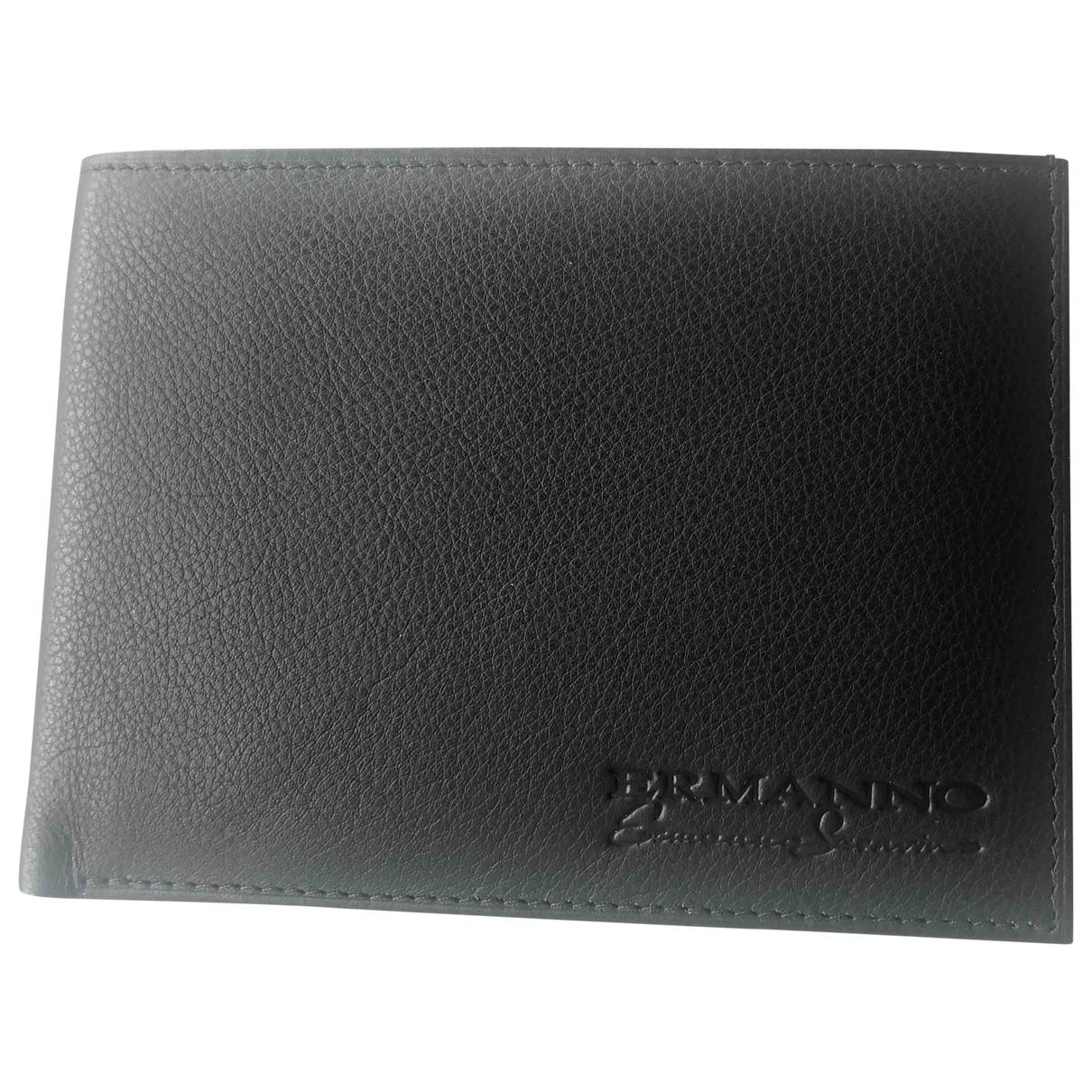 Ermanno Scervino \N Black Leather Small bag, wallet & cases for Men \N