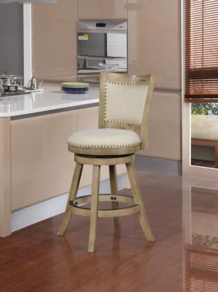 CS221GRY01U Tift Collection Counter Height Stool with Rustic Style  Solid Wood Frame and Polyester Upholstery in Grey