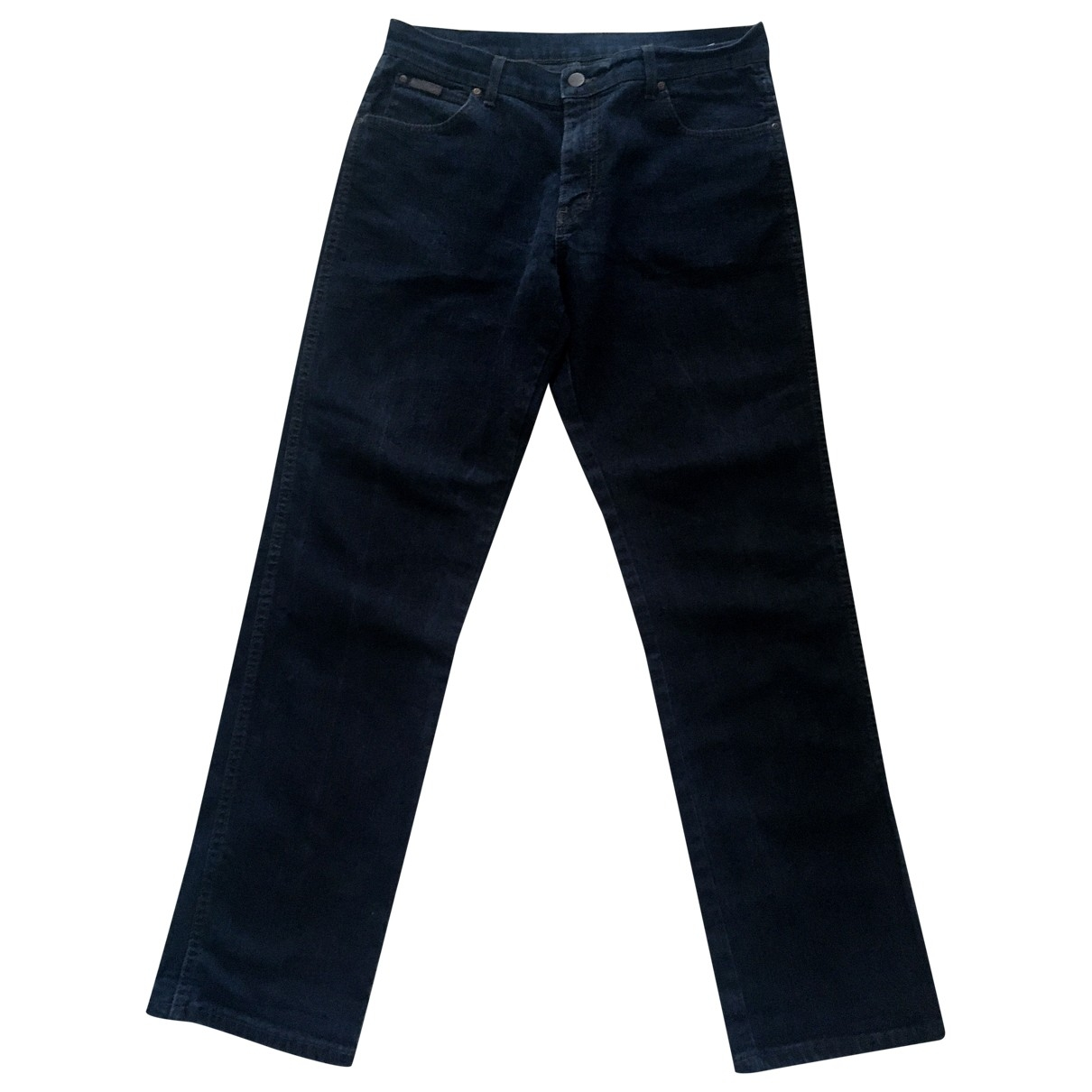 Wrangler \N Blue Cotton - elasthane Jeans for Men 46 FR