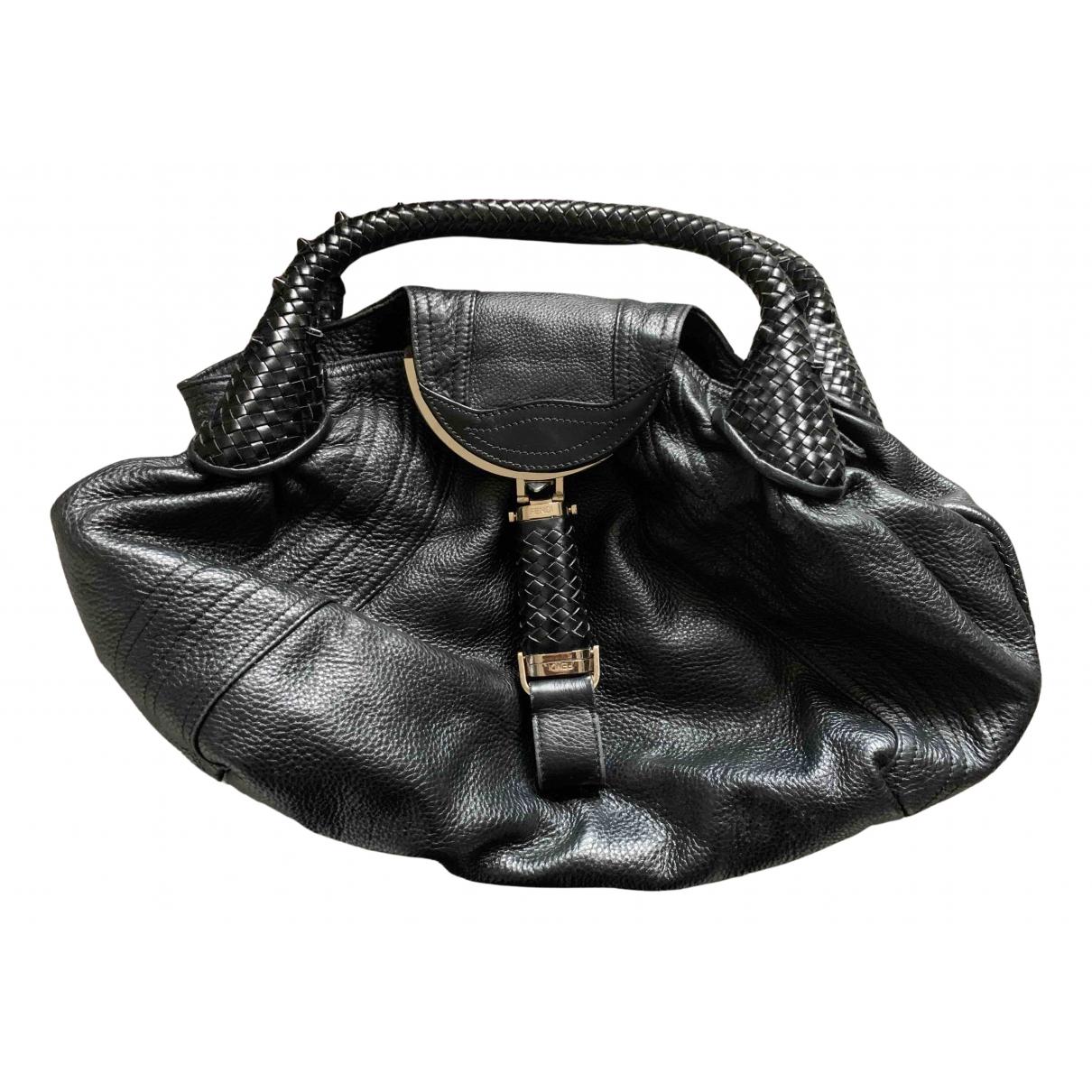 Fendi Spy Black Leather handbag for Women N