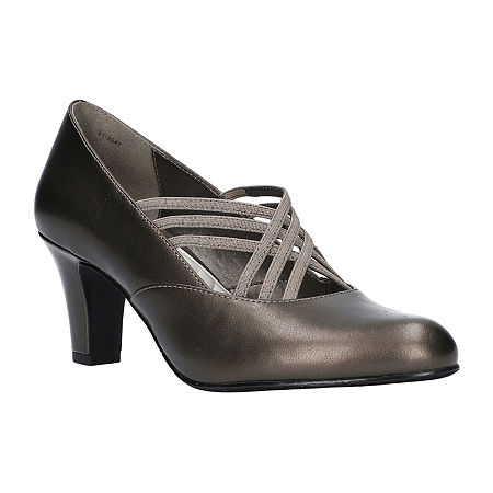 Easy Street Womens Rumer Pumps Spike Heel, 7 1/2 Wide, Gray