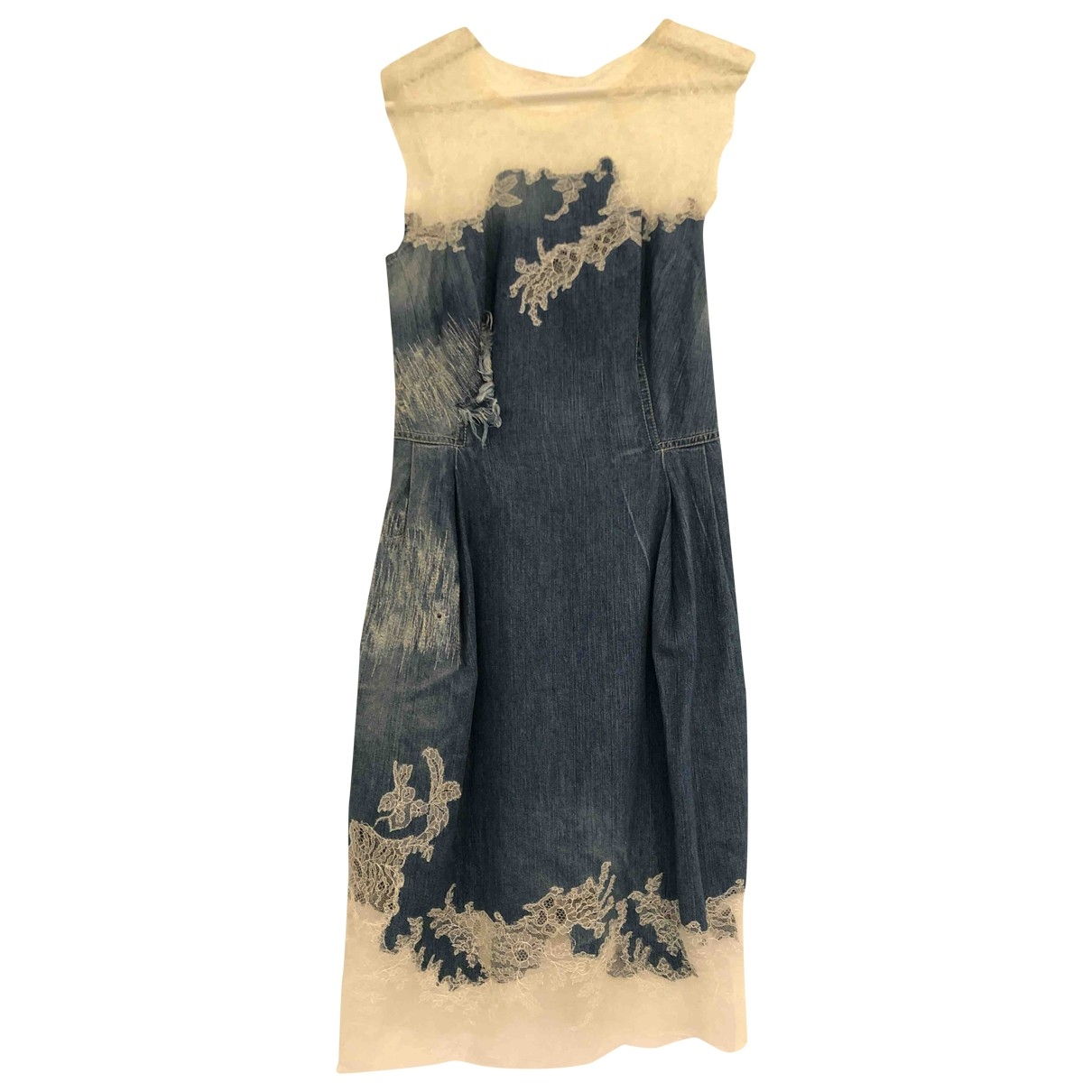 Ermanno Scervino - Robe   pour femme en denim - bleu