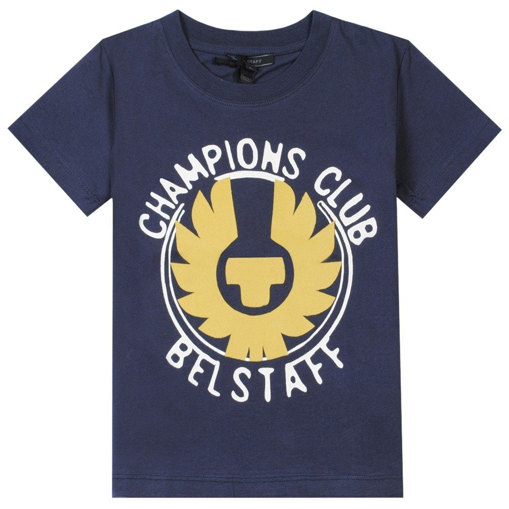 Belstaff Kids Hanway Champion T-Shirt Colour: NAVY, Size: 12 YEARS