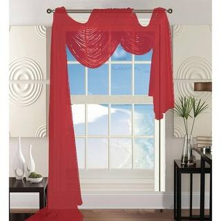 Elegant Comfort Beautiful Window Panel Curtain Sheer Voile Scarf 55