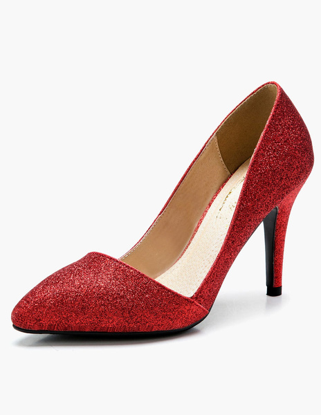 Milanoo Pointed Toe Glitter Pumps For Bride