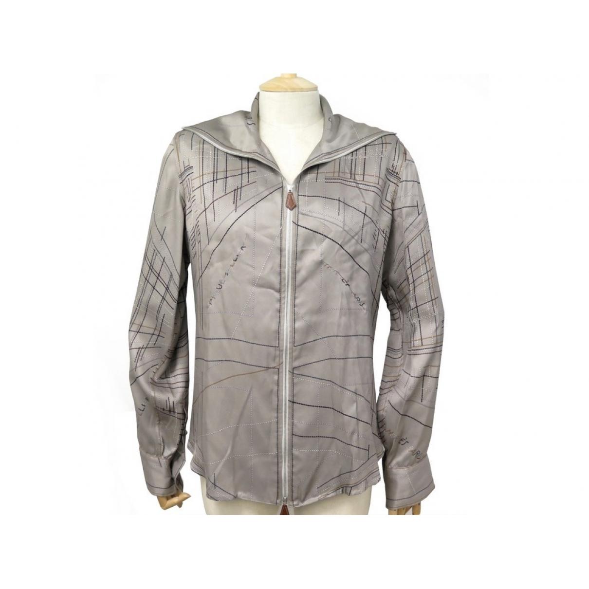 Hermes - Veste   pour femme en soie - gris