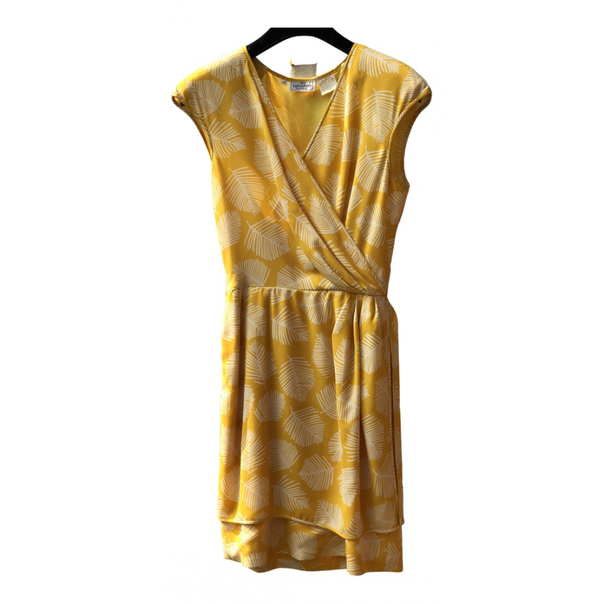 Valentino Garavani N Yellow Silk dress for Women 4 UK
