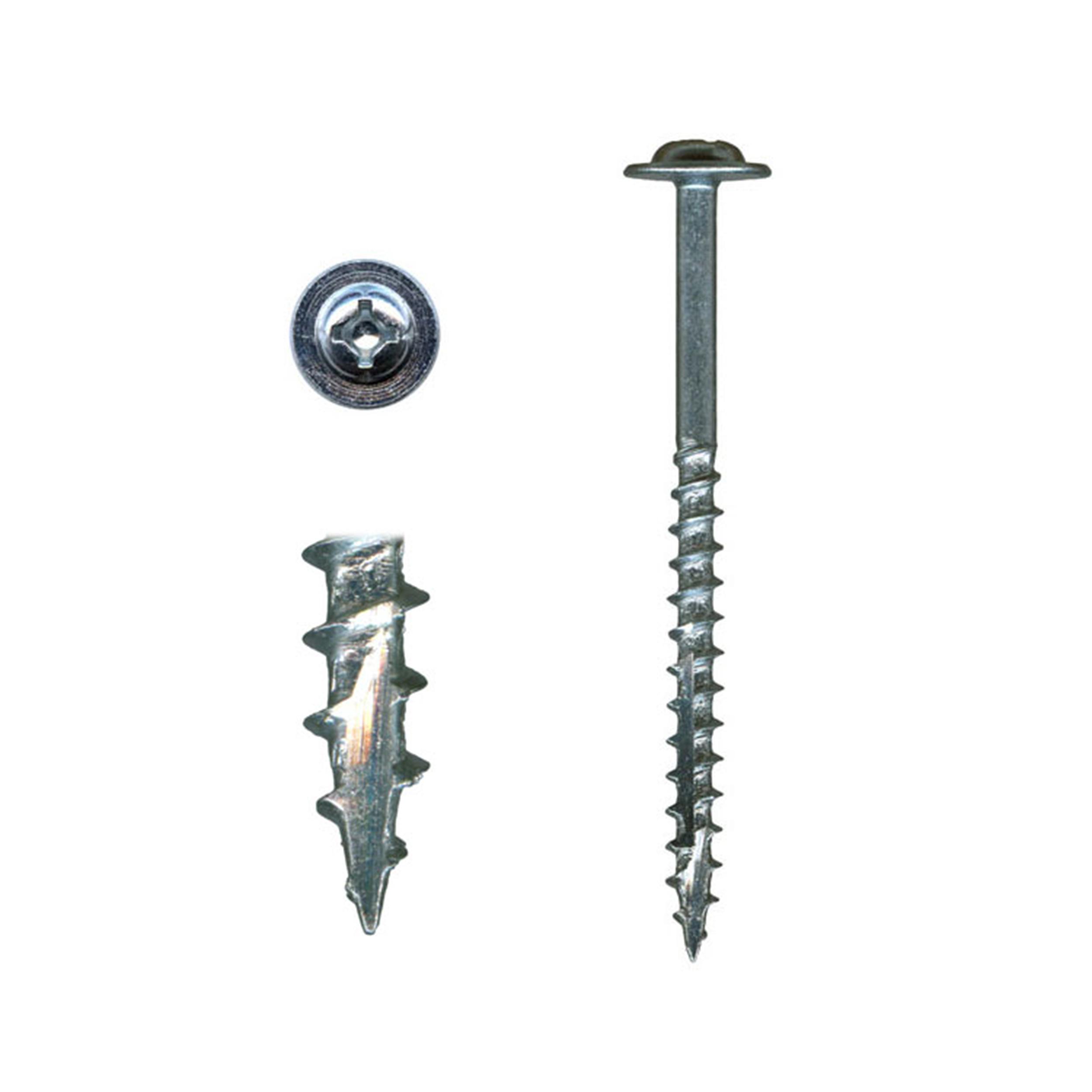 10 x 2-1/2 Cabinet Installation Screws, Washer Head, Combo Drive, Zinc, 100-Piece