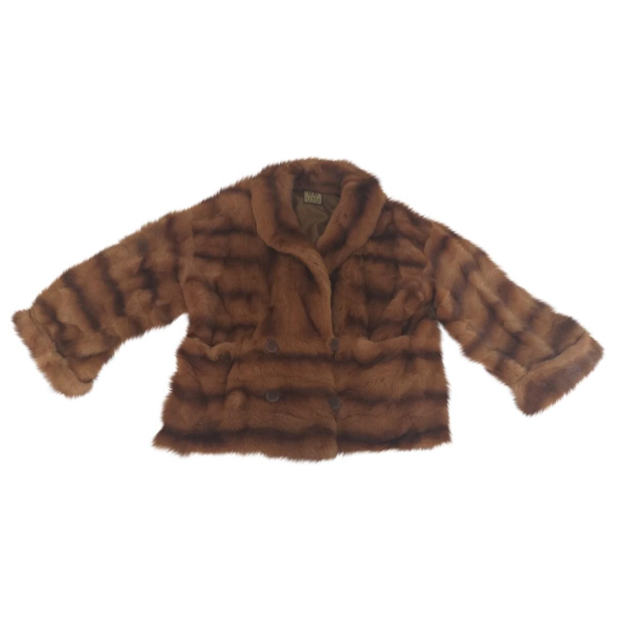 Fendi - Manteau   pour femme en vison - camel
