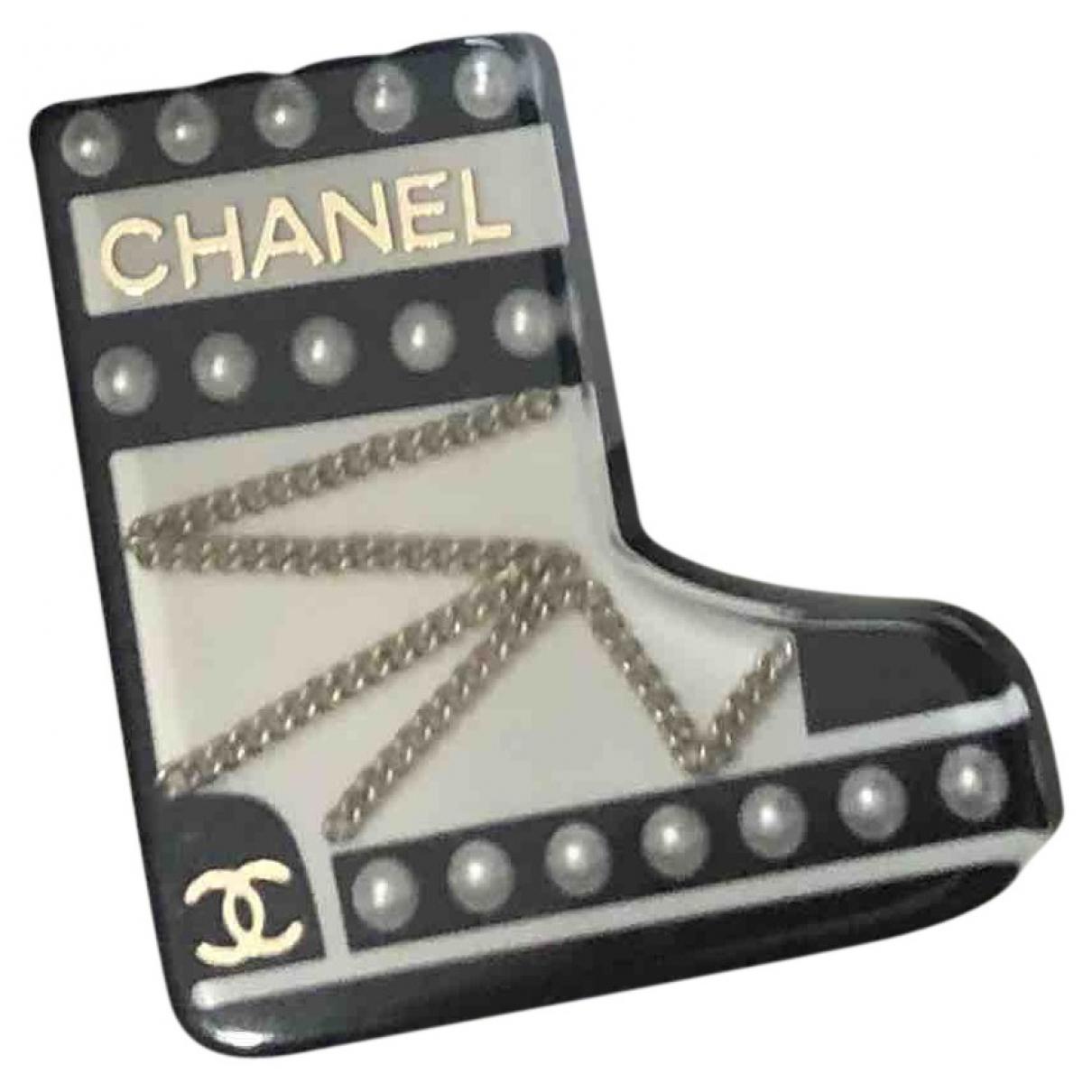 Chanel - Broche   pour femme - noir