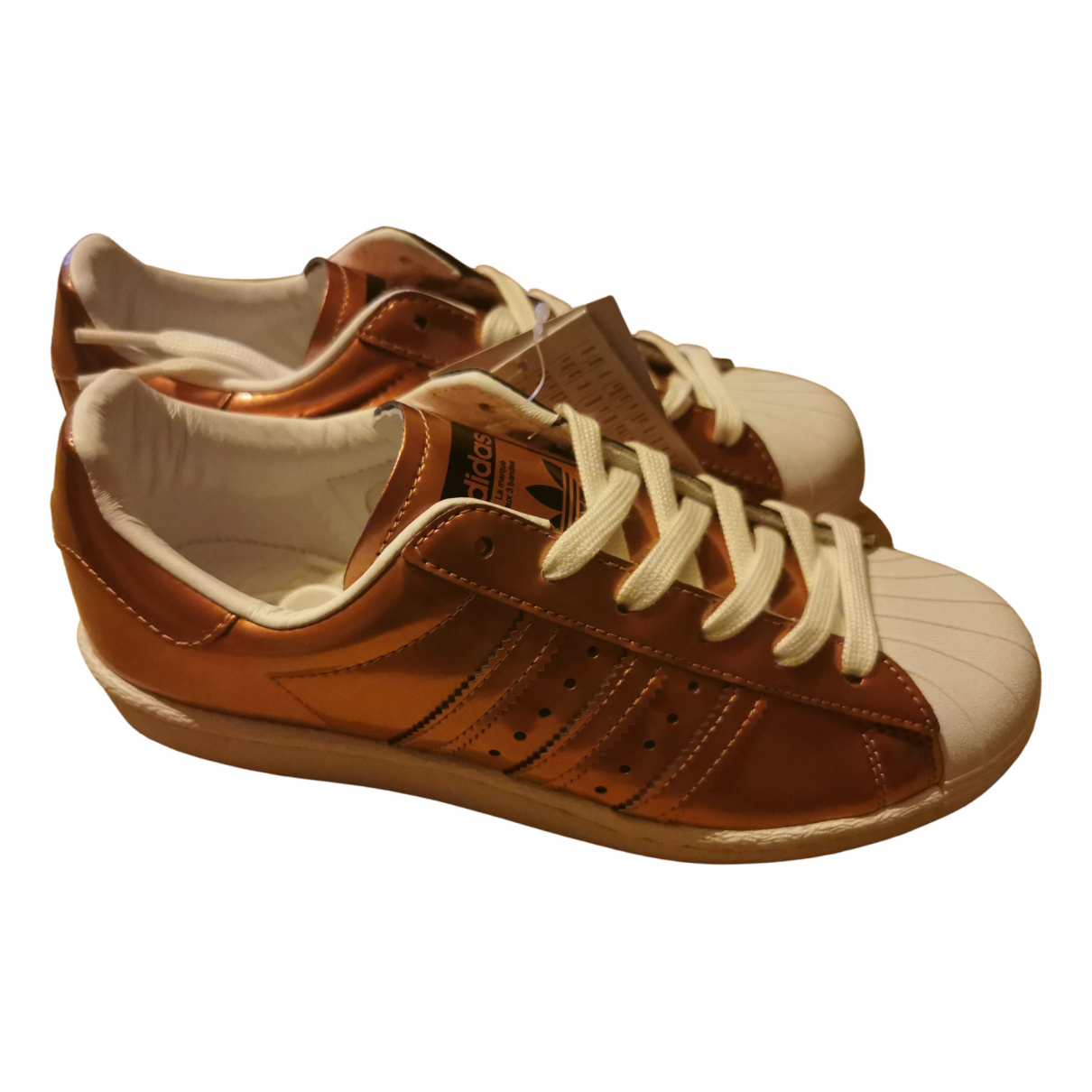 Adidas Superstar Metallic Leather Trainers for Women 38 EU