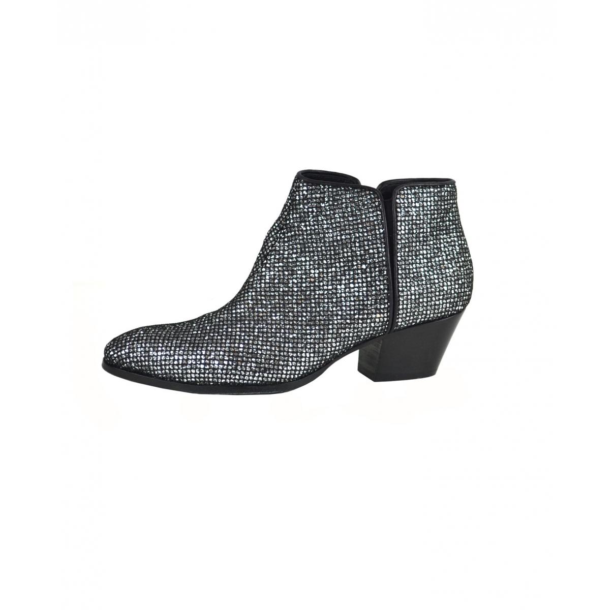 Giuseppe Zanotti \N Silver Glitter Ankle boots for Women 41 EU