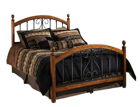Burton Way 1258BQ Queen Sized Bed with Headboard  Footboard and 4 Posts  Elongated Oval Finials and Tubular Steel Construction in Black Powder Coat