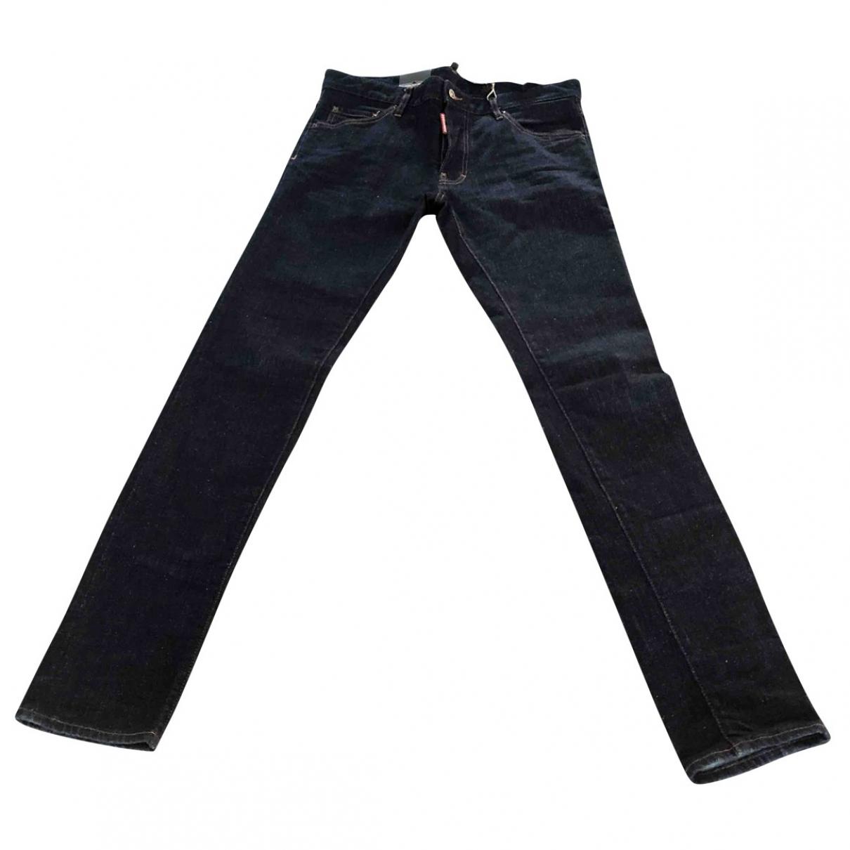Dsquared2 - Jean   pour homme en coton - elasthane - bleu