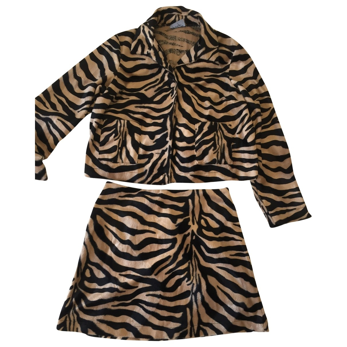 Non Signé / Unsigned \N Brown Faux fur jacket for Women 10 UK