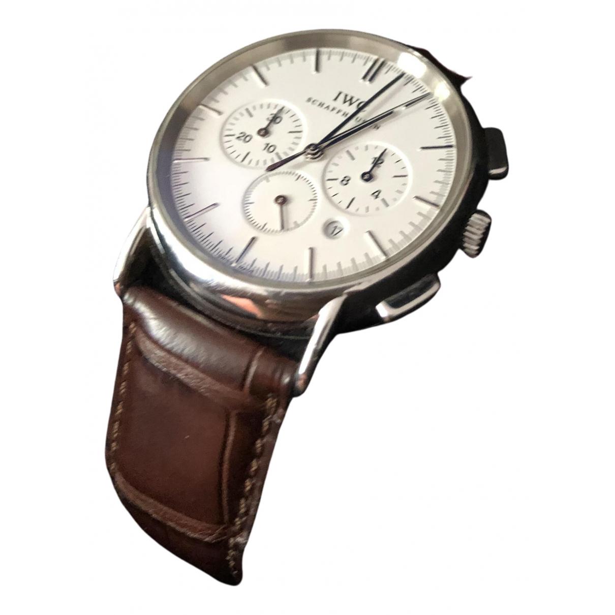 Iwc Portofino Uhr in  Weiss Stahl