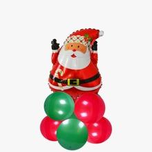 11 Stuecke Ballon Set mit Weihnachtsmann Design
