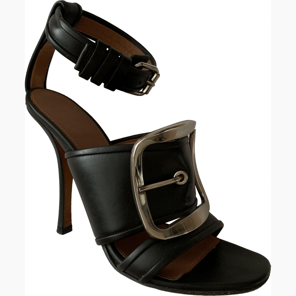 Givenchy \N Black Leather Sandals for Women 37 EU