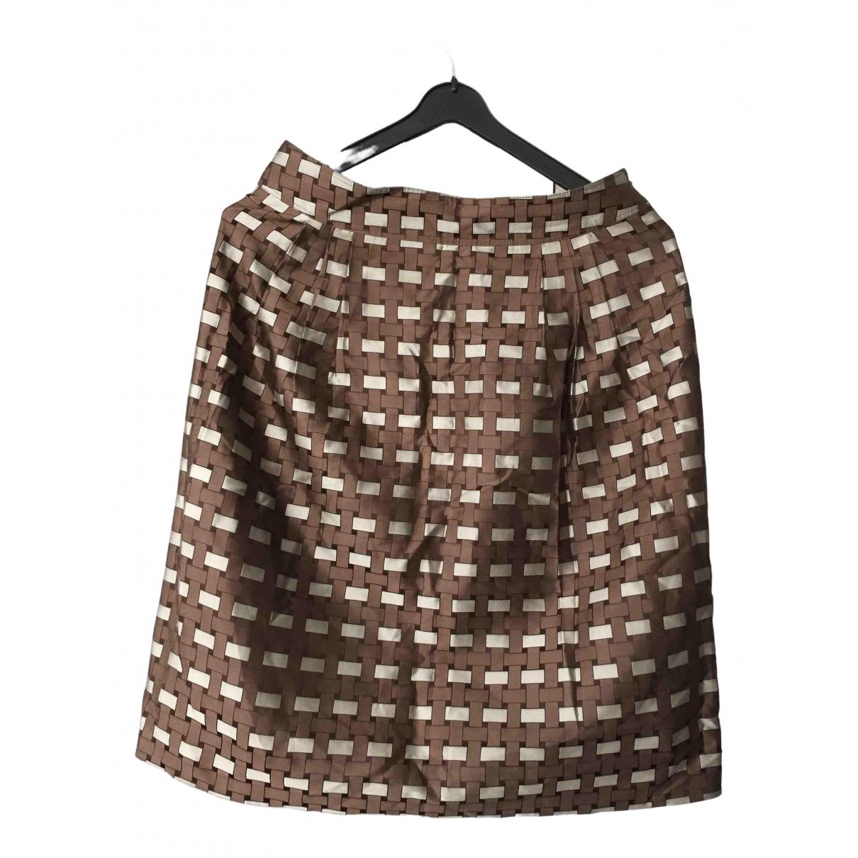Burberry - Jupe   pour femme en soie - marron