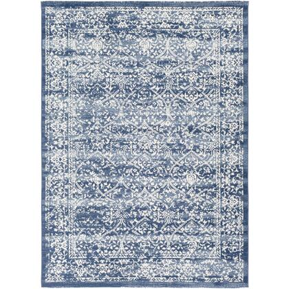 Roma ROM-2301 9 x 123 Rectangle Traditional Rug in Navy  Denim