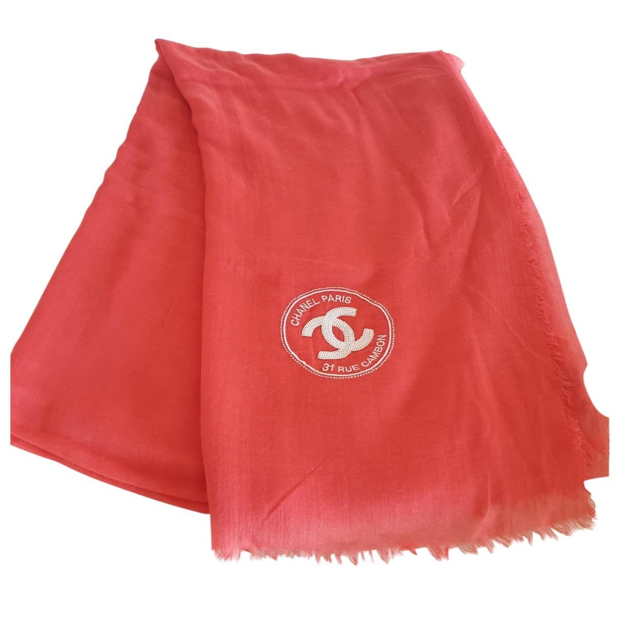 Chanel \N Orange Wool scarf for Women \N