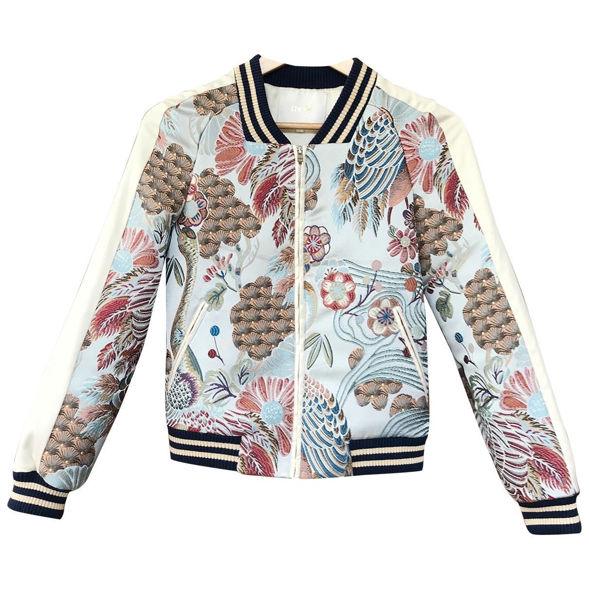 Maje \N Blue Cotton jacket for Women 36 FR