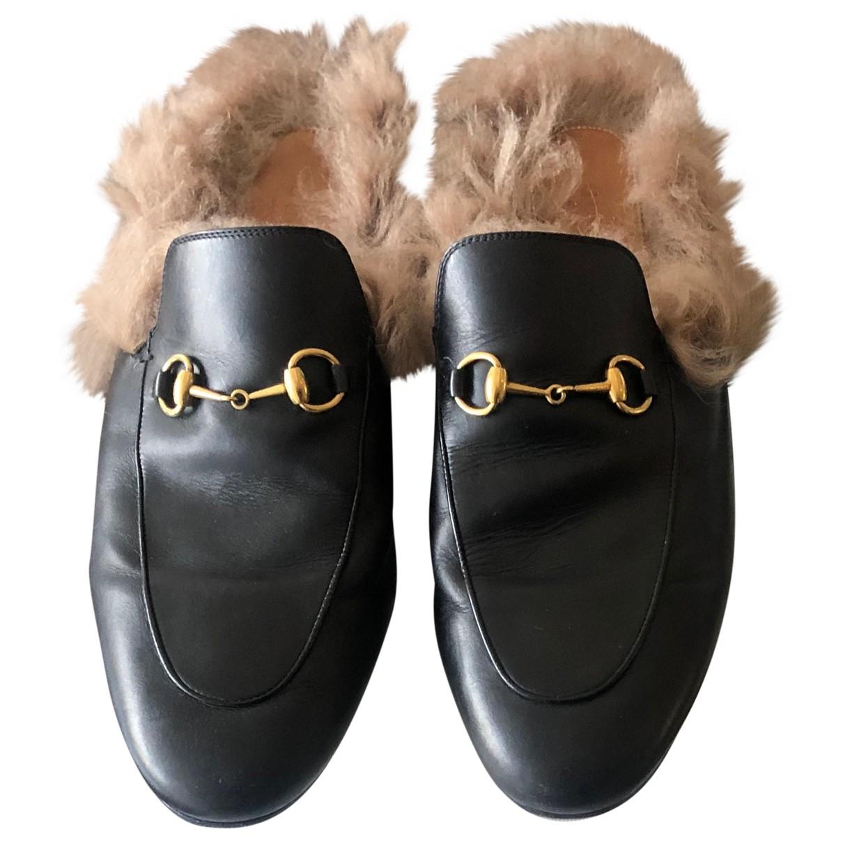 Gucci - Mocassins Princetown pour femme en cuir - noir