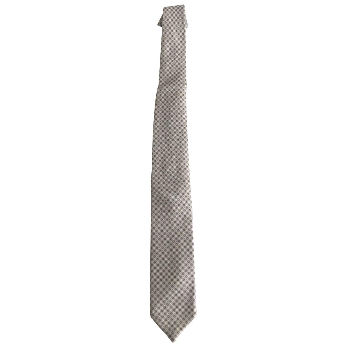 Corneliani \N Krawatten in  Grau Seide